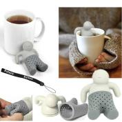 Esrone® Lot Silicone Mr.Tea Infuser Loose Tea Leaf Strainer Herbal Spice filter Diffuser
