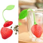 Silicone Strawberry Shape Tea Leaf Strainer Herbal Spice Infuser Tea filter