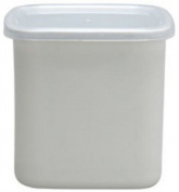 Noda Horo Square White Enamel Stockpot (L) Imported From Japan