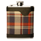 Savage Stainless Steel Hip Flask Covered with Cheque Cloth and Genuine Leather Rmf-37