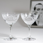"Cole Porter ""Ritz Bar"" Champagne Cocktail Glasses"