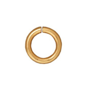 22K Gold Plated Brass Open Jump Rings 7.7mm 16 Gauge