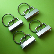 25 Sets - Key Fob Hardware with Split Ring - 3.2cm Wide