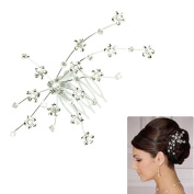 Voberry® Fashion Silver Personality Gem Crystal Wedding Bridal Princess Jewellery Crown Hair Jewellery Accessories