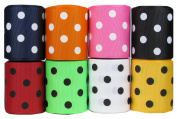 HipGirl Polka Dot Printed Ribbon & Fabric Tape Value Pack (40yd