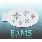 Bad Ass Retro Starbursts Mini Stencil BAM1040