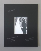 16x20 Black Signature and Autograph Picture Mat for 8x10 picture. Weddings, Baby Showers, Reunions
