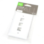 On-Q 3-Port White Wall Plate- F3403-WH-V1
