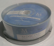 M-DISC 4.7 GB DVD Media - 15 Disc Cake Box