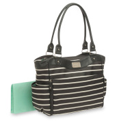 Carter's Zip Fashion Nappy Bag, Front Stripe