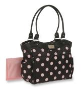 Carter's Dot Print Tote Nappy Bag, Grey/Pink