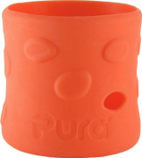 Pura Kiki Pebble Silicone Bottle Sleeve, Orange, Short