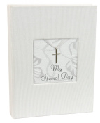 Stephan Baby Inspirational Keepsake Mini Photo Album with Silver Cross, My Special Day