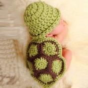 Doinshop Baby Girl Boy Newborn Turtle Knit Crochet Clothes Beanie Hat Outfit Photo Props