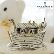 Irish Newbridge Silverware Noahs Ark Music Box