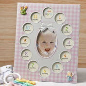 BABY'S 1st YEAR Photo COLLAGE FRAME - 13 Pictures - GIFT KEEPSAKE - CHRISTENING