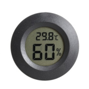 Vktech Mini LCD Celsius Digital Thermometer Humidity Metre Black