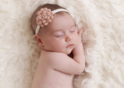 Wool Flower with Velvet Headband for Baby Girls, Photography, Toddlers, Accessories, Perfect for Winter
