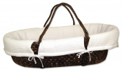 Trend Lab Moses Basket Set, Pique Chocolate