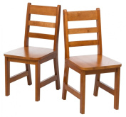 Lipper International 523/4P Child's Chairs, Set of 2, Pecan