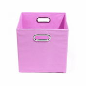 Modern Littles Storage & Organisers Rose 27cm . x 27cm . x 27cm . Folding Solid Pink Fabric Storage Bin ROSSTOR202