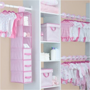 Delta - 48-Piece Nursery Storage Set, Barely Pink