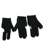 Click Down 5 Black Billiards Pool Snooker Cue Shooters 3 Fingers Gloves