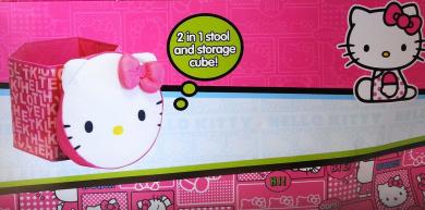 Sanrio Hello Kitty 2 in 1 Collapsible Storage Stool