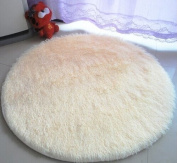 Princess Dream Round Shaggy Area Rugs and Carpet Super Soft Bedroom Carpet with a Heart Rug,for Kids Play ,Round 120cm