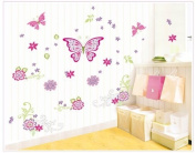Free Will DIY Removable Butterflies and Flowers Wall Decal Sticker Art