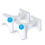 Squatty Potty 18cm 2 Pack - Bathroom Elimination Aid - Keep Your Colon Healthy