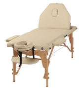 The Best Massage Table 3 Fold Cream Reiki Portable Massage Table - PU Leather High Quality