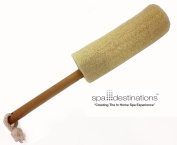 """The Utimate Loofah Back Brush 20cm Loofa with Wooden Handle by Spa Destinations® """"Creating The In Home Spa Experience"""" Best Quality! Best Value!"""