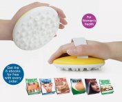 Anti Cellulite Massage Brush + 6  .  s and Full Instructional Guide - The Best Way to Get Rid of Cellulite Fast - Increases blood flow and breaks up fat deposit - Great for losing belly fat or love handles - Helps reducing fat from thighs and but ..