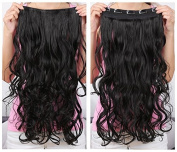 OneDor® 50cm Curly 3/4 Full Head Synthetic Hair Extensions Clip On/in Hairpieces 140g 5 Clips