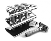 Stainless Steel Safety Razor Shaving Caddy Stand