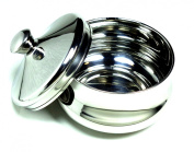 Stainless Steel Shaving Bowl with Lid