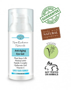 GUARANTEED Best Eye Gel Treatment Solution For Wrinkles, Under Eye Bags, Dark Circles, Fine Lines, Puffiness, Sagging, Crows Feet. By New Radiance Naturals With Plant Stem Cells, Matrixyl 3000, Vegan Hyaluronic Acid, Cucumber Hydrosol, Peptide Complex, ..
