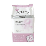 Pond's Luminous Clean Moisture Clean Towelettes With Cold Cream Technology 28 Each