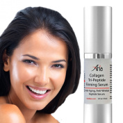 Best Anti Ageing Triple Peptide Collagen Firming Serum With Hyaluronic Acid - Instantly Tighten Face For Age Defying Radiance - 3 Advanced Peptides, Matrixyl® Pentapeptides and Hexapeptides Diminish Fine Lines, Wrinkles And Even Skin Tone for A Lumino ..
