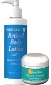 Premium Retinol Combo Pack 1 Retinol Body Lotion and 1 Retinol Cream