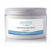 Adovia Exfoliating Facial Sea Salts - At Home Microdermabrasion Crystals - Dead Sea Salt Exfoliating Crystals for Acne, Oily Skin and Blackheads - Finely Ground Facial Sea Salt for Face Exfoliation - Remove Dead Skin Cells and Reveal a Radiant, Clear L ..