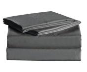 1600 Thread Count Sheet Set Egyptian Quality Super Soft Wrinkle Resistance Grey King