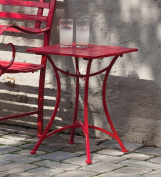 Red Metal Side Table