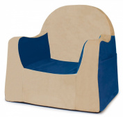 P'kolino Little Reader Chair, Blue with Tan