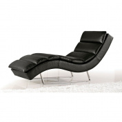 Sphinx Woven Fabric Chaise - Black