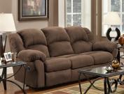 Roundhill Furniture Aruba Microfiber Dual Reclining Sofa, Chocolate