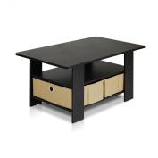 Furinno 11158EX/BR (99976E) Espresso Living Set, Coffee Table
