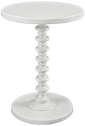 Powell Furniture Round Spindle Table, White
