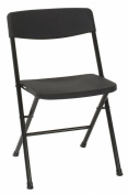 Cosco Resin 4-Pack Folding Chair with Moulded Seat and Back, Black